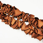 "6"" Medium Brown Color Gator Clip Bows .52 ea"