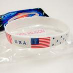 USA Theme 100% Silicone Band Bracelet 12 per pk .25 ea