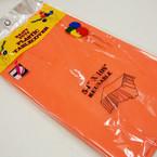 """54"""" X 108"""" Orange Plastic Table Cloths 12 per pk .54 ea"""