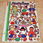Stickerpotamus USA Theme Sticker Sheets 6 sheets per pk .50 ea