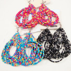 "3"" Fashionable Seed Bead Wrap Around Style Earrings .50 ea"