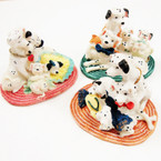 "4"" Asst Style Dalmatian Poly Resin Figurine 4 per bx .35 ea"