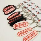 Rebelde Oval Silicone Keychains 12 per pk  .25 ea