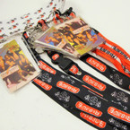 Rebelde Red/Blk Lanyards w/ ID Holder  12 per pk  .25 ea