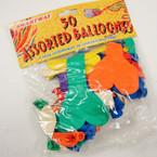 50 Pack Asst Balloons 12-50 pks @ .60 per bag