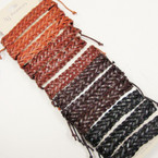 Wide Teen Leather Bracelet Braided Style @ .54 ea