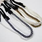3 Strand Fashion Headband w/ Elastic Back .54 ea set