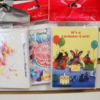 "4"" X 5"" 8 Card Party Invitation Packs mixed styles 12 per pk Only .25 ea"