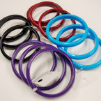3 Pk Colorful Solid Fall Color Bangles .33 per set