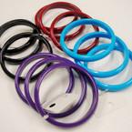3 Pk Colorful Solid Fall Color Bangles .33 per set