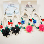 "2.5"" Flower & Bug Fashion Earrings @ .33 ea"