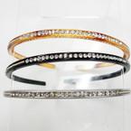 Thin Fashion Headbands w/ Clear Crystal Stones @ .33 ea