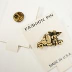 """1"""" Antique Gold Trucker Angel Tac Pins 33 per pk @ .20 ea"""