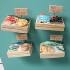 "2.5"" Handmade Fish for Sale Magnets 40 per bx @ .65 ea"