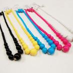 """20"""" Asst Color Bead Fashion Neck Set .50 per set"""
