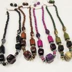 "18"" Fashionable Fall Color Bead Neck Set @ .50 per set"