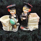 "4"" Graduation Theme Poly Figure w/ Pencil Holder 4 pk bx @ .55 ea"