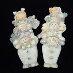 "4"" Cute Triple Bear  Christmas Poly Resin Magnets 15 per bx @  .50 ea"