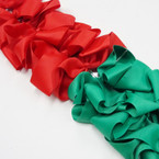 "6"" Christmas Color Gator Clip Bows 8 Red 4 Green .54 ea"