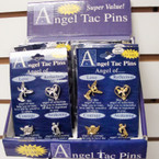 4 Pack Angel Tac Pins Gold & Silver 12 sets per counter display bx $ 1.00 ea set
