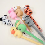 "7"" Mixed Style Plush Animal Pens 12 per pk @ .55 ea"