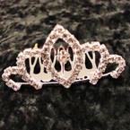 "2.5"" Rhinestone Silver Tiara Comb All Clear Rhinestones (203) .54 ea"