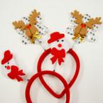 SPECIAL Snowman & Reindeer  Bopper Christmas Headbands  .58 ea