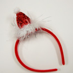SPECIAL Sparkle Santa Hat Christmas Headbands  .58 ea