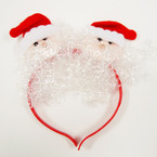 SPECIAL Santa Face w/ Snow Christmas Headbands  .58 ea