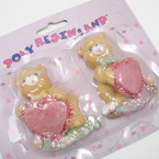 "CLOSEOUT 2 Pack 3"" Bear w/ Heart Magnets 12-2pks per bx @ .50 per set"