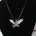 "16""-18"" Leather Cord Necklace w/ Silver Eagle Pendant .54 ea"
