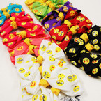 "3.5"" Mixed Style & Color Emoji Gator Clip Bows 24 per pk ONLY .27 ea"