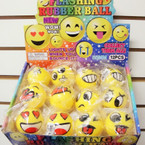 "2"" Mixed Style Emoji Light Up Fun Balls 12 per display bx .57 ea"