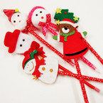 "8""-9"" Mixed Style Christmas Novelty Pens 12 per pk ONLY  .54 ea"