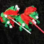Tutu Style Fuzzie Ball & Jingle Bell Christmas Pens 12 per pk .54 ea