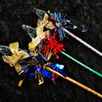 "10"" Foil Wrapper Fancy Christmas Tree Pens 12 per pk @ .54 ea"