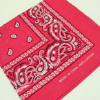 "20"" Square 100% Cotton Bandana Fusia Color .50 ea"