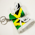 "3"" High Top Jamaica Sneaker Keychains  12 per pk @ .55 ea"
