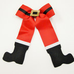 "5"" X 8"" Santa BOOT Look Gator CLip Novelty Bow .54 ea"