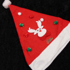 "16"" Red & White Christmas Decorated Hat 3 Styles per dz .58 ea"