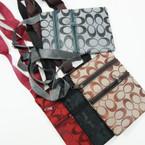 "4.5"" X 6.5"" Long Strap 2 Zipper Side Bag Designer Look Print Only .60 ea"