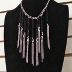 Fashion Necklace Gold & Silver w/ Bib Drop 2 Colors .56 ea
