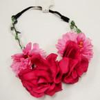 "Trendy 7"" Flower Headbands w/Pearls Autumn Colors .54 ea"