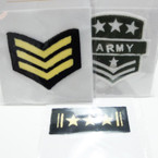 "3""-3.5"" Iron On Fashion Army Patches 12 per pk .50 ea"