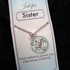 Just for SISTER Pendant Necklace 24 per pk .85 ea