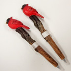 "5.5"" Cardinal Poly Resin Wood Look Ball Point Pen 6 per bx .85 ea"