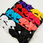 "4 Pack 2.75"" Gator Clip Bows  Asst Colors  .54 per set"
