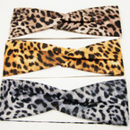 "3"" Wide 3 Color Animal Print Stretch Headbands .52 ea"