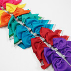 "6"" X 5.5"" Tail Gator Clip Bows w/ Sparkle Strips Mixed Brights .54 ea"