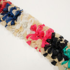 "5"" Gold & winter Tone Silk Feel Layered Gator Clip Bows   .56 ea"